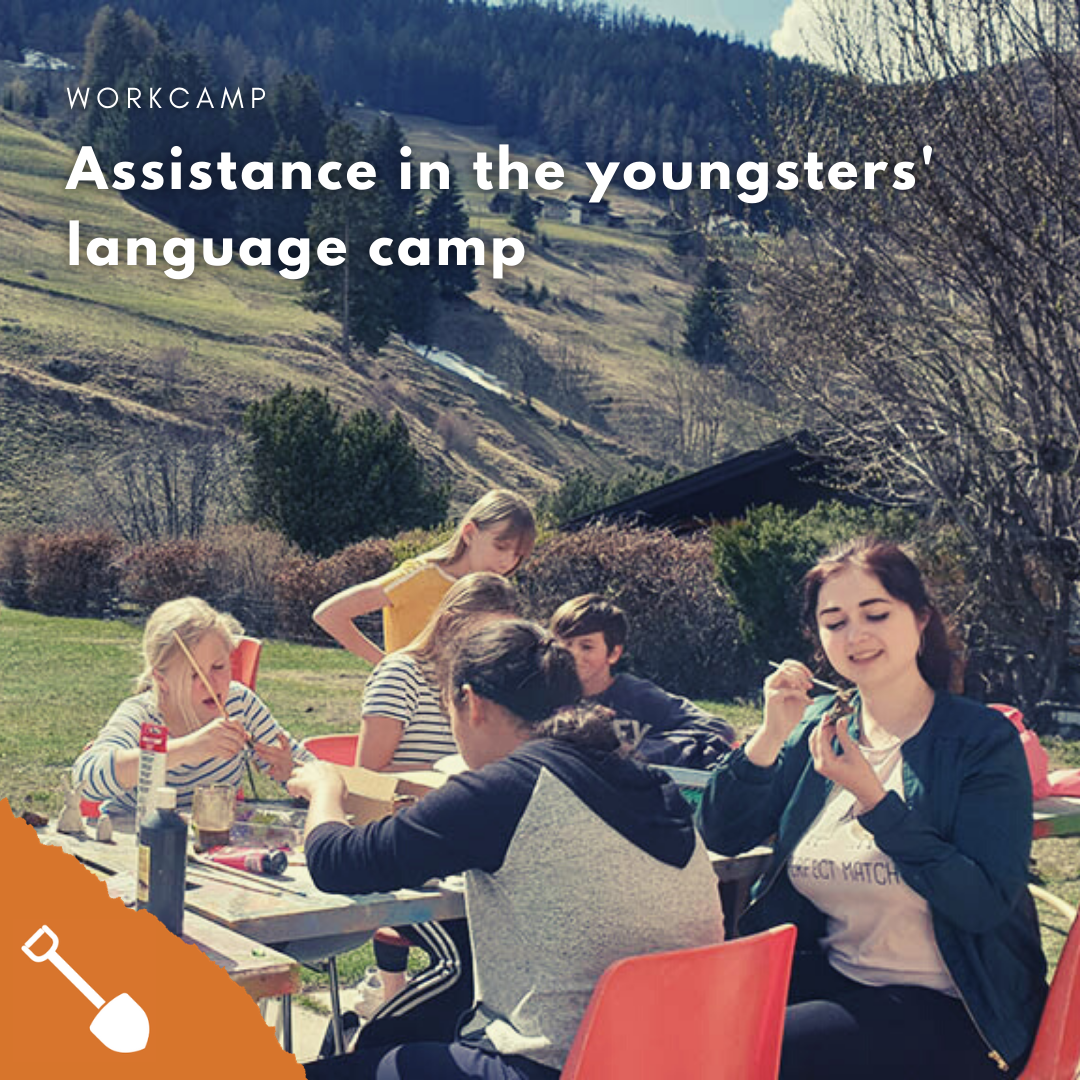 Assistance in the youngsters' language camp at Saint Bernard (Liddes, VS)