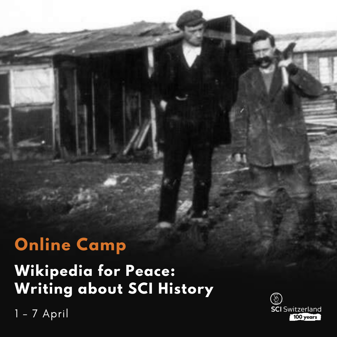 In this camp, we want to shed a light to the last century of volunteering by writing Wikipedia articles about SCI, the peace and volunteering movement.